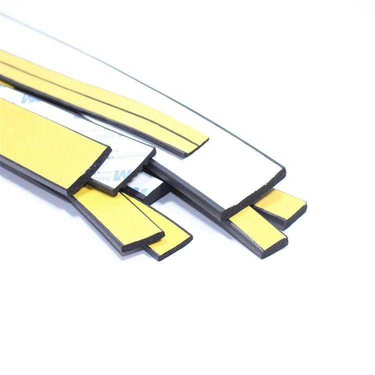 三元乙丙发泡橡胶矩形扁条I型平板带背胶自粘配电箱柜密封条