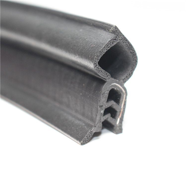 U型防尘卡槽防撞胶条橡胶条三元乙丙顶泡密封条