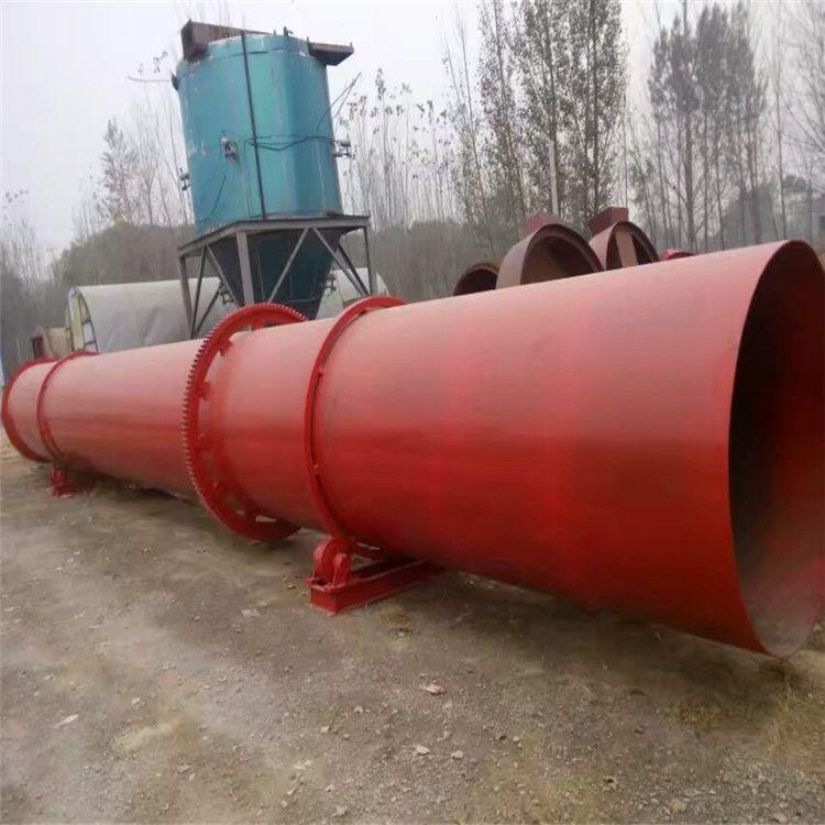 加工生产工业用大型滚筒沙子烘干机 三筒三回程不锈钢滚筒烘干机