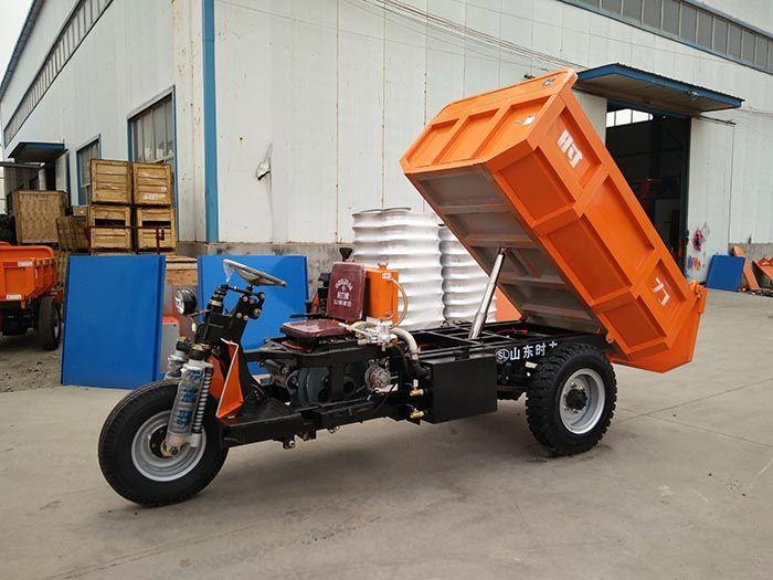 安徽3噸礦用自卸三輪車拉土車井下礦石運輸車