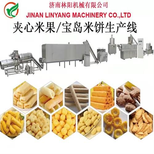 LinYang休闲夹心米果食品生产设备生产线