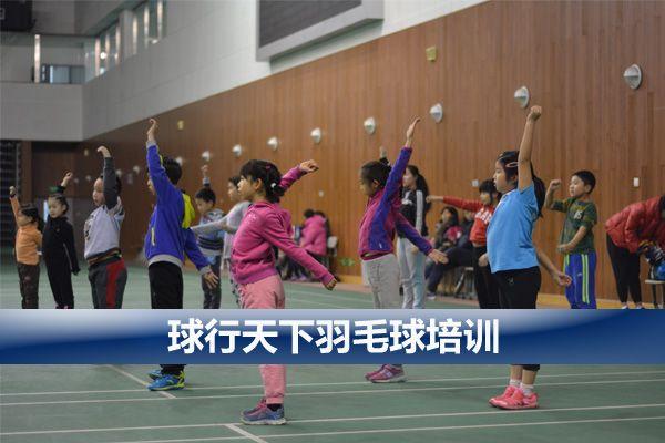 球行天下西城白广路广安门青少年儿童羽毛球培训
