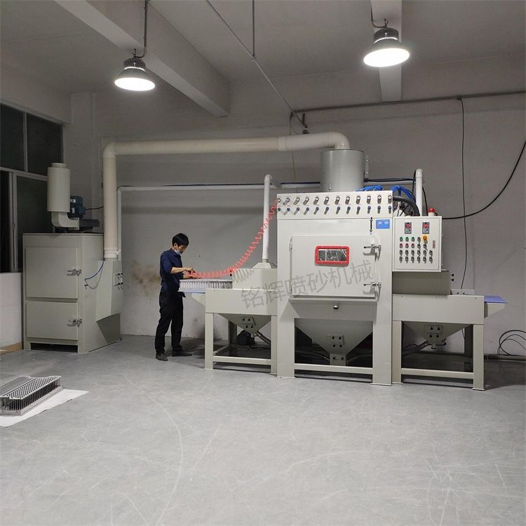 铝合金压铸件喷砂机 铝合金制品表面处理喷砂机