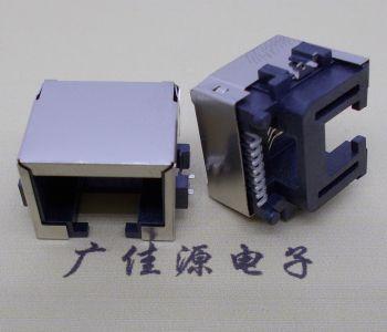 供应RJ45-15.5SMT网络接口反向带LED灯不带弹
