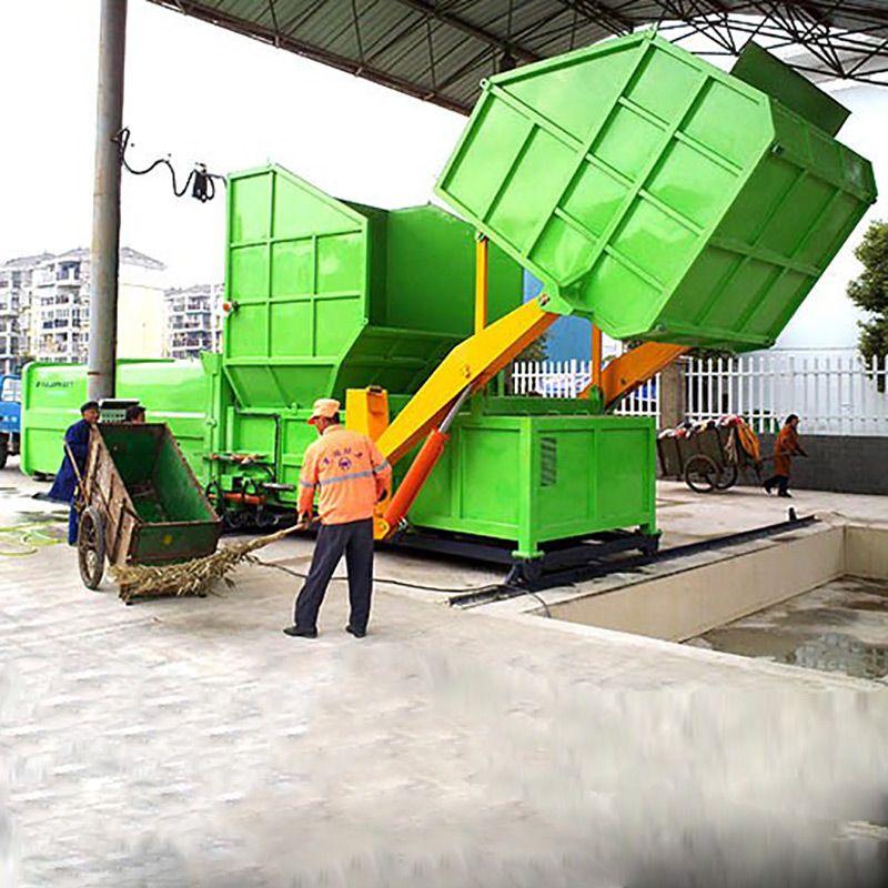 分体式垃圾压缩中转站集装箱公司欢迎山东济宁客户来厂考察