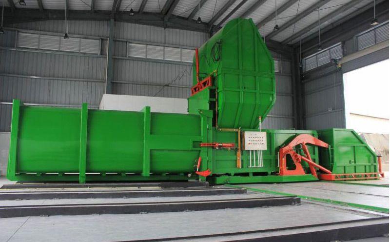 浙江金华处理量150吨-200吨22立方分体式垃圾中转站压缩集装箱设备学校环卫