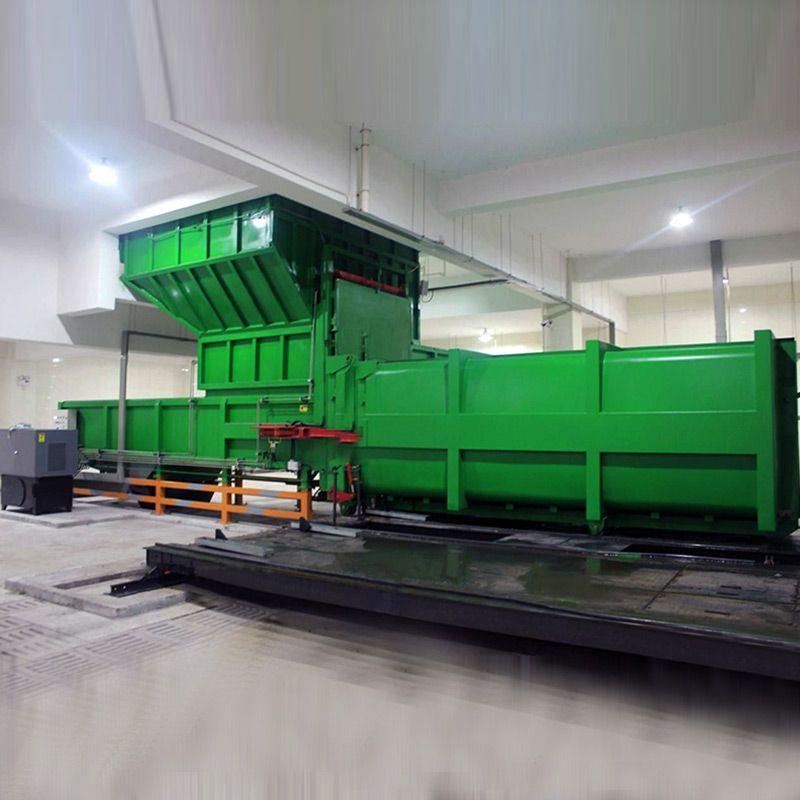 河南德隆重工乡镇垂直式垃圾中转站压缩机设备厂家可发货到山东德州