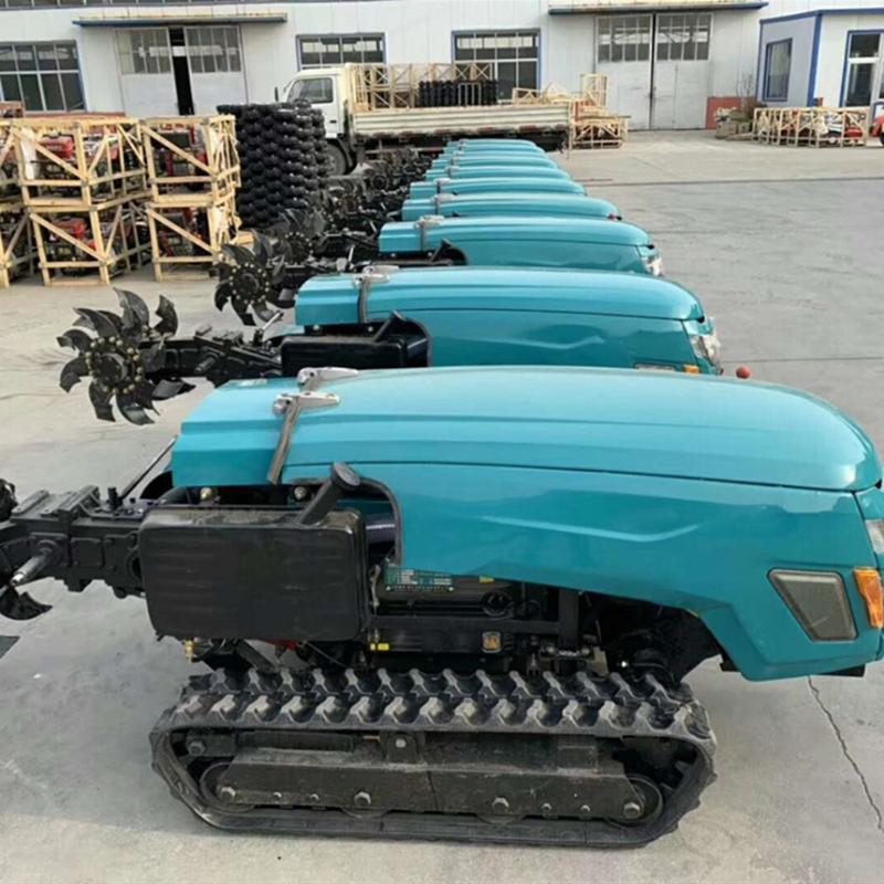 遙控履帶自走式旋耕機 柴油多用途耕整機 果園開溝施肥回填機田園旋耕機