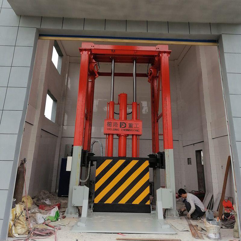 为福建厦门提供生产垂直式垃圾转运站压缩设备 固定式垃圾站压缩机