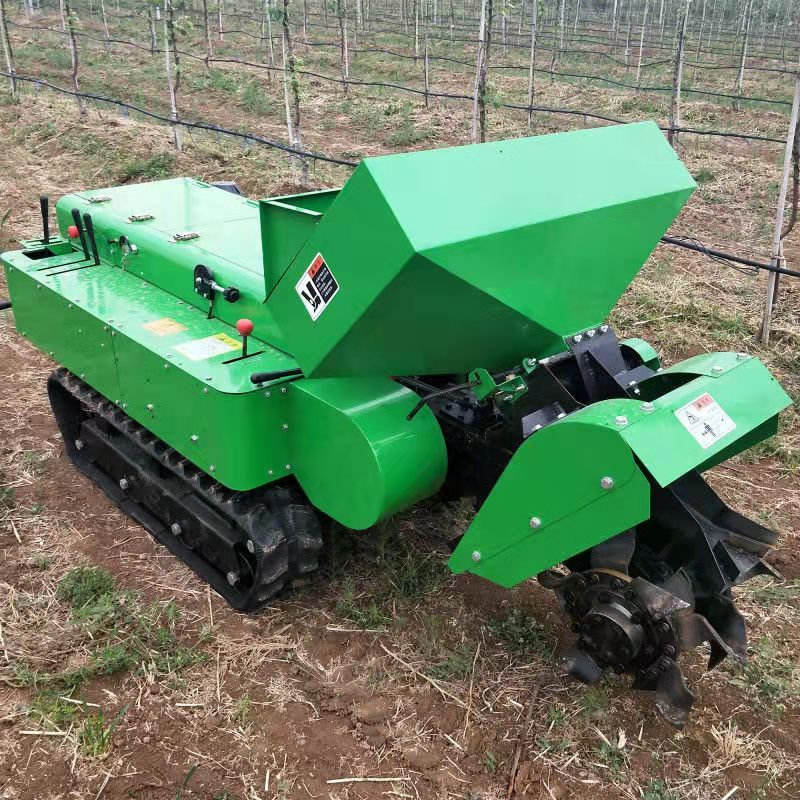 遙控履帶自走式旋耕機,履帶自走式旋耕機,土壤耕整農機設備