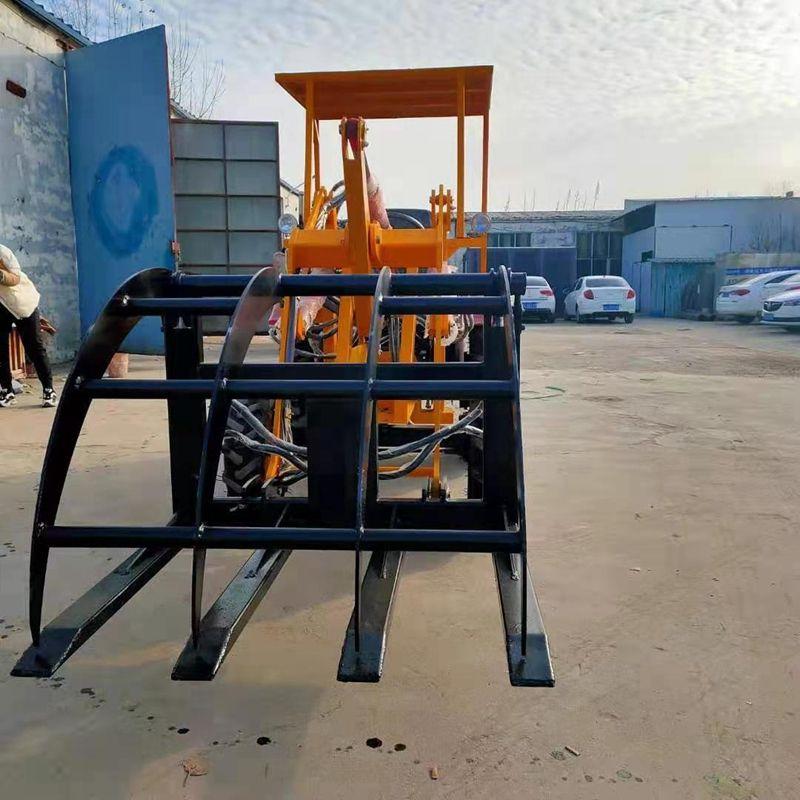 轮式小铲车农用抓草机抓木机建筑机械小型装载机