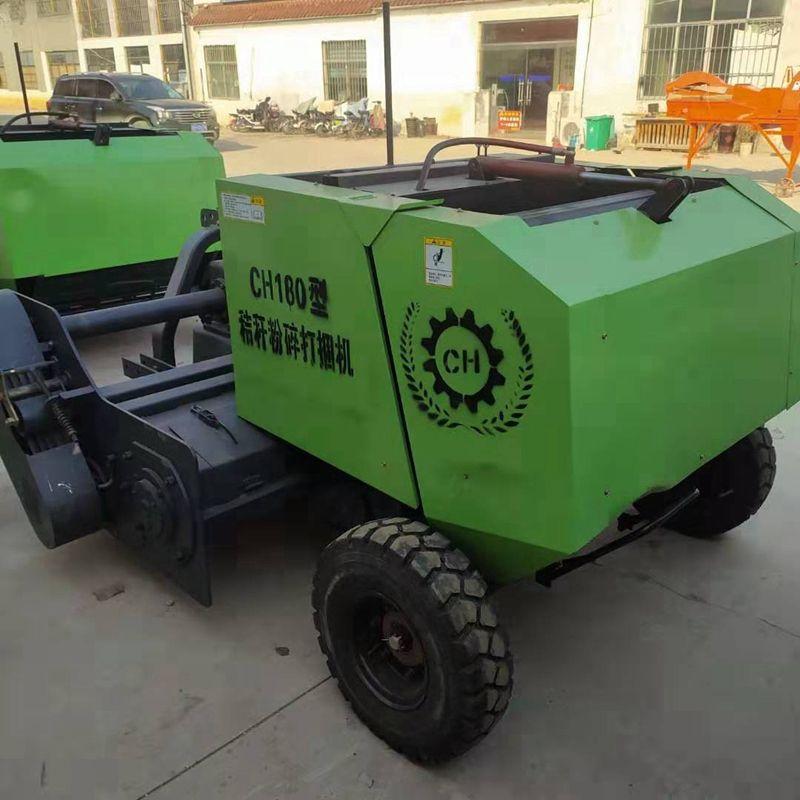自动捡拾秸秆打捆机 新型秸草秆收集设备小型玉米秸秆捆装机