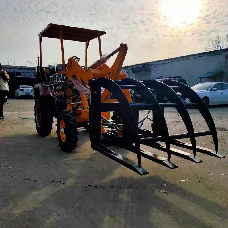 液压助力工程机械车 农用抓草机抓木机 建筑机械06型小型装载机