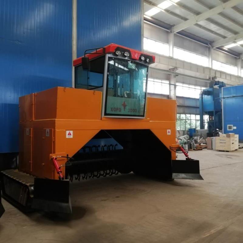 液压履带养殖场粪便处理设备  翻堆机 自走式翻抛机 有机肥翻堆机