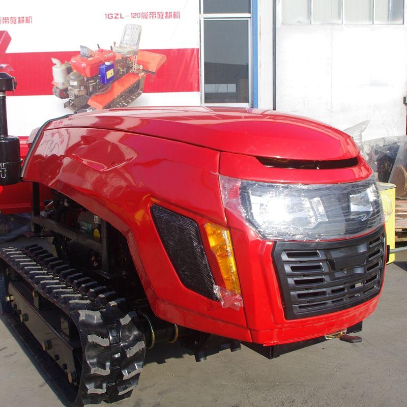 履帶式開溝回填機 履帶自走式旋耕機 遙控式大棚開溝撒肥機