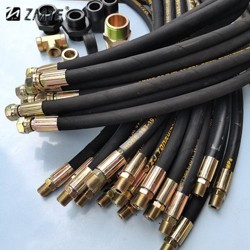 供应 中美 高压胶管总成 钢丝编织缠绕高压胶管 厂家定制