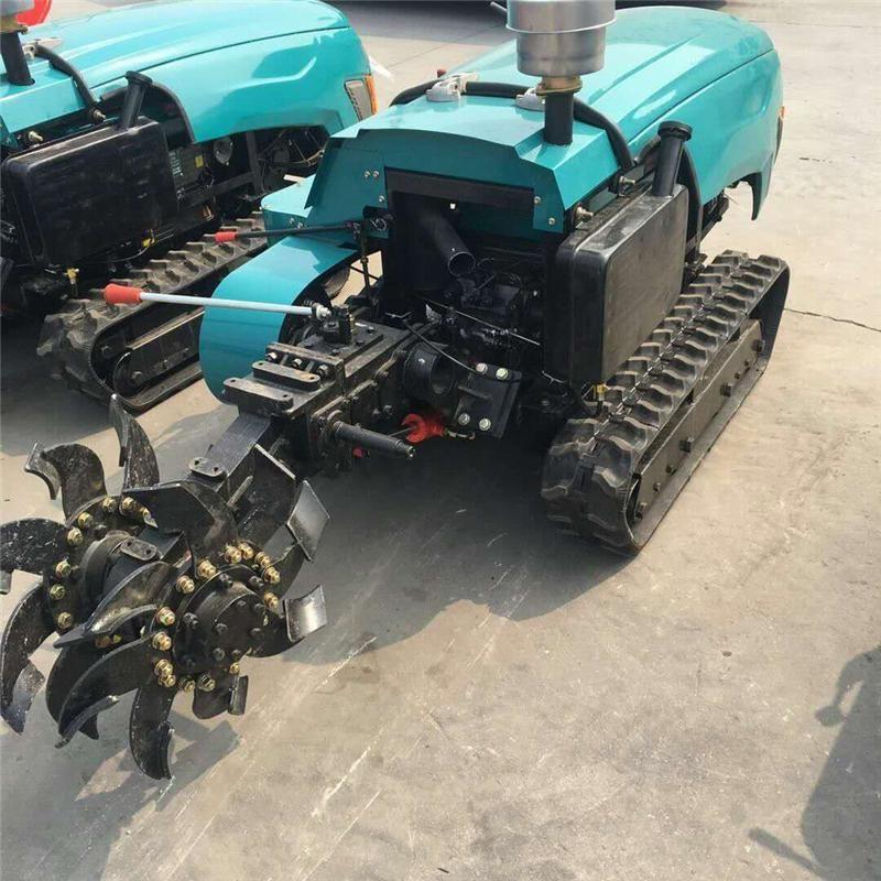 遙控式大棚開溝撒肥機 果園微耕機 多功能農用小型旋耕機