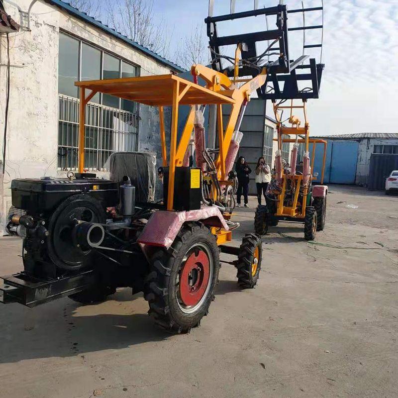 厂家供应小型抓草机抓木机 轮式小铲车装载机 加长臂抓木机