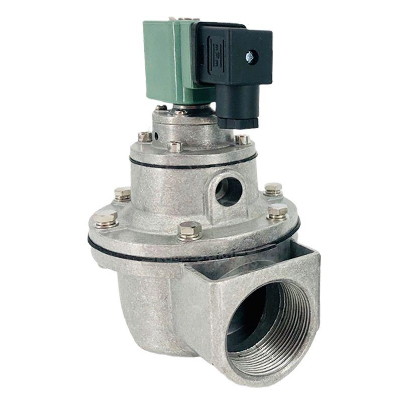 直角脈沖電磁閥DC24V進出氣鋁質控制門噴吹袋式廠除塵器過濾設備