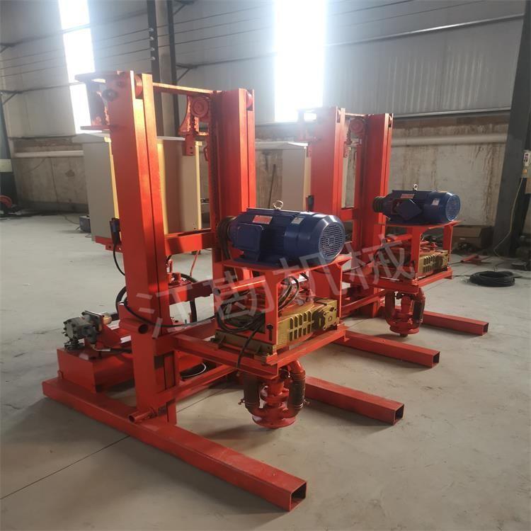 三轮车煤改电钻机 柴动地暖钻井机 潜孔钻井机