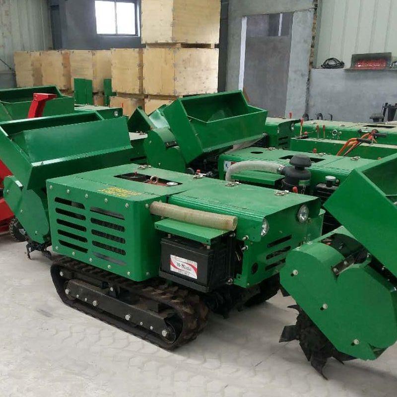 履帶自走式電啟動柴油多用途耕整機 果園開溝施肥回填機