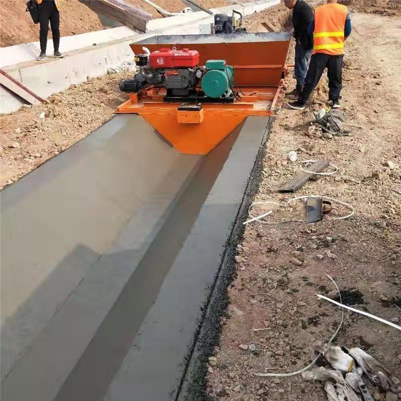 混凝土渠道滑模机  农业水渠修建机 现浇沟渠滑模机