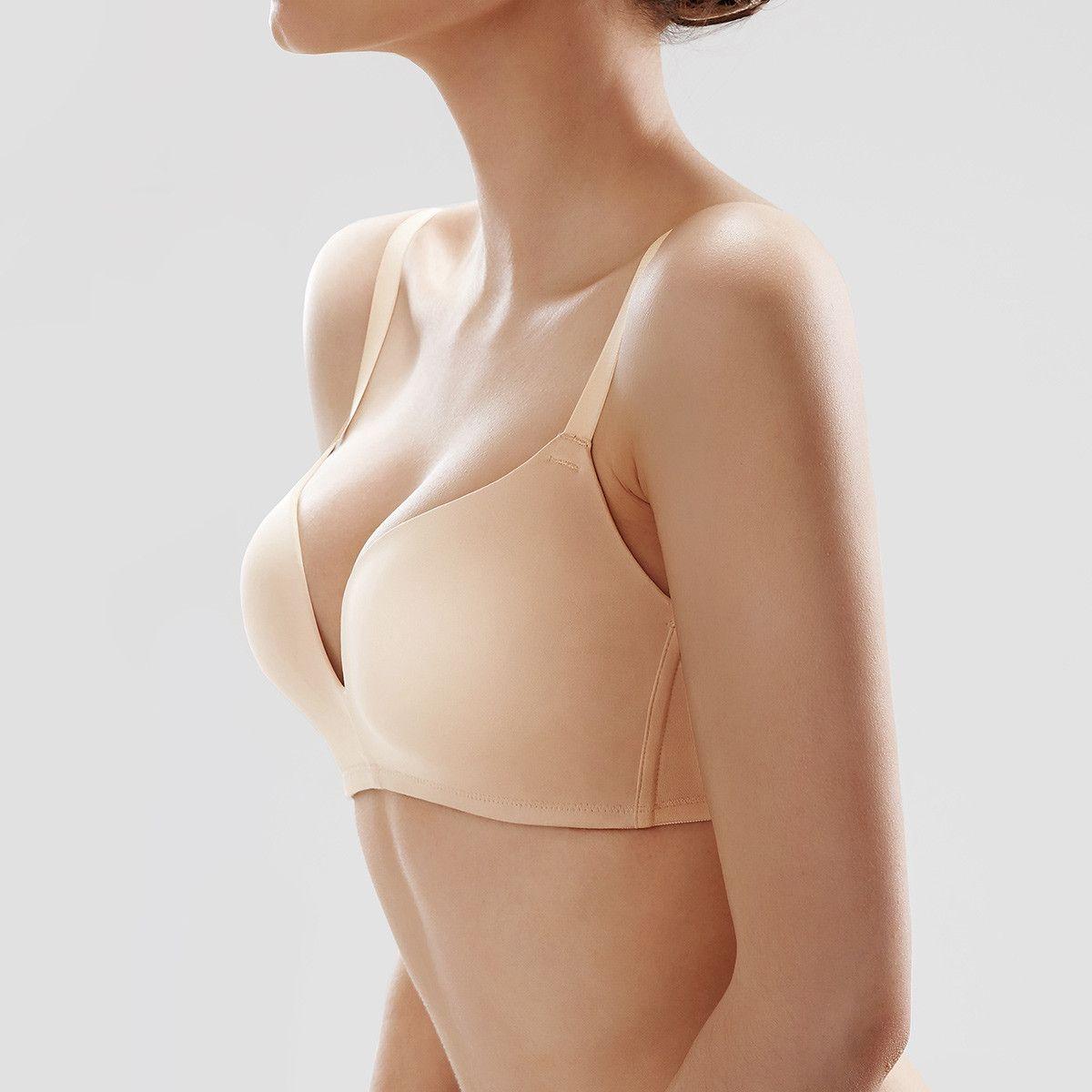 調整型石磨稀無鋼圈內衣透氣超薄蕾絲大胸顯小文胸大碼性感舒適聚攏胸罩