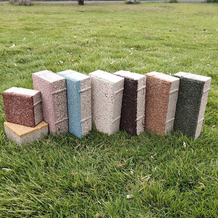 宁彤陶瓷透水砖现货供应人行道砖黄色盲道砖会呼吸的透水砖
