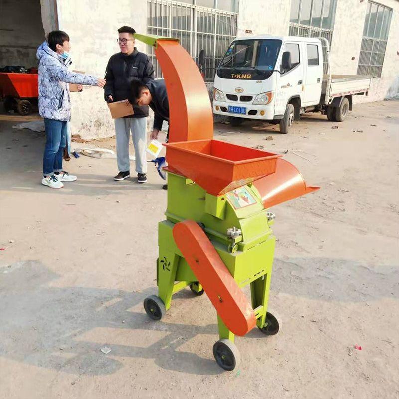 生产家用青饲料铡草揉丝机 小型铡草粉碎机 玉米秸秆粉碎机