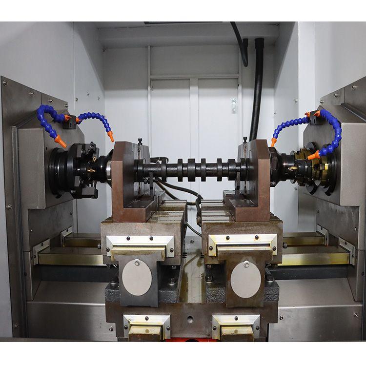 厂家阀门碟版加工 数控刮打机双端面铣打机 铣削钻中心孔效率高