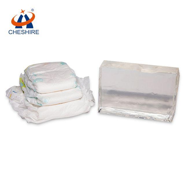 祺星熱熔膠紙尿褲衛生巾等基材復合用橡筋膠白色塊狀