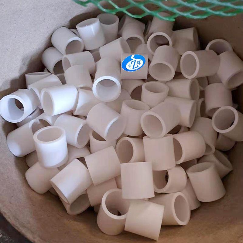 PTFE拉西環填料耐高溫耐腐蝕塑料填料四拉西環
