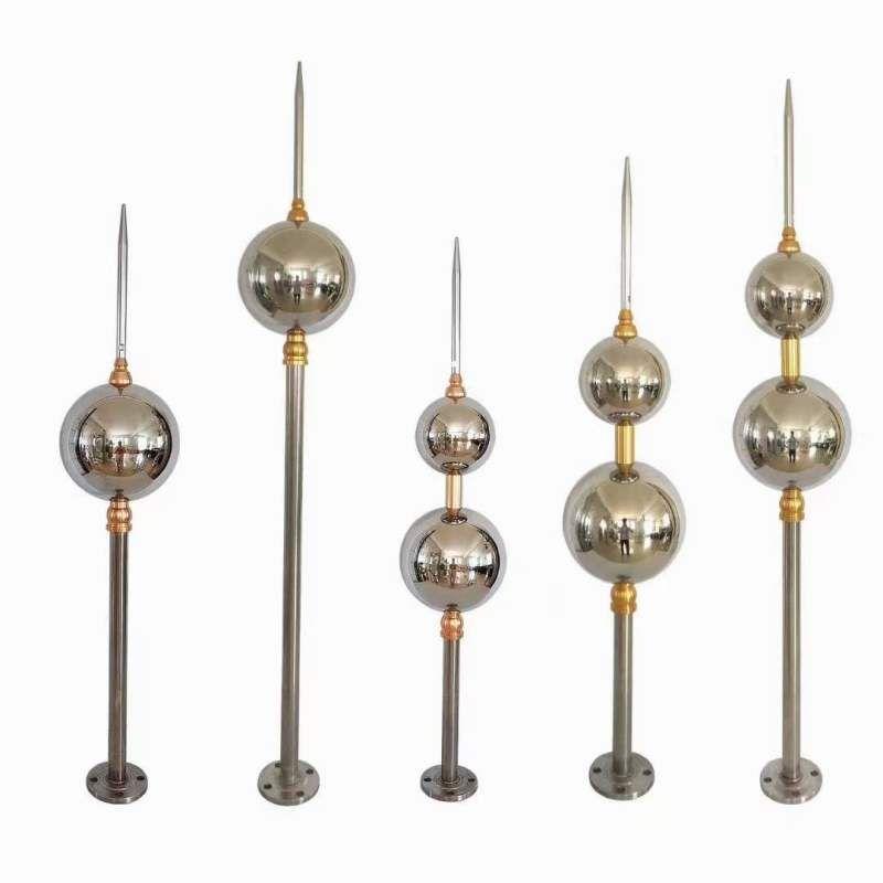 304不锈钢避雷针塔防护设备-防雷接地工程扬博不锈钢制品有限公司