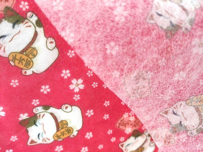 福建泉州厂家直销水刺无纺布庆新年款图案一次性口罩用布