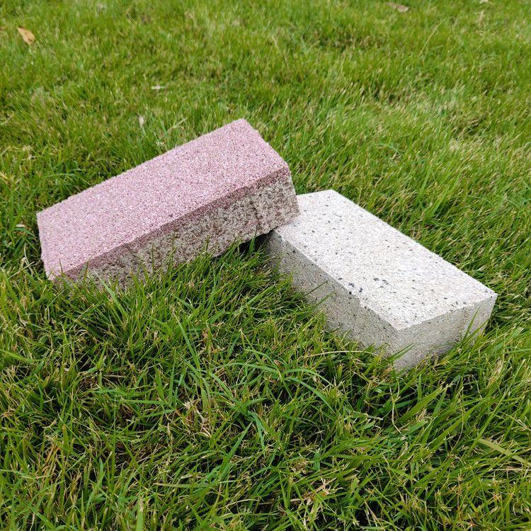 宁彤陶瓷透水砖海绵城市人行道砖黄色盲道砖 抗冻防滑砖