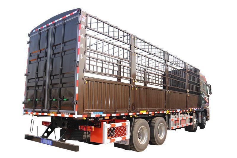 锣响载货车9米6仓栅式载货车铝合金工具箱