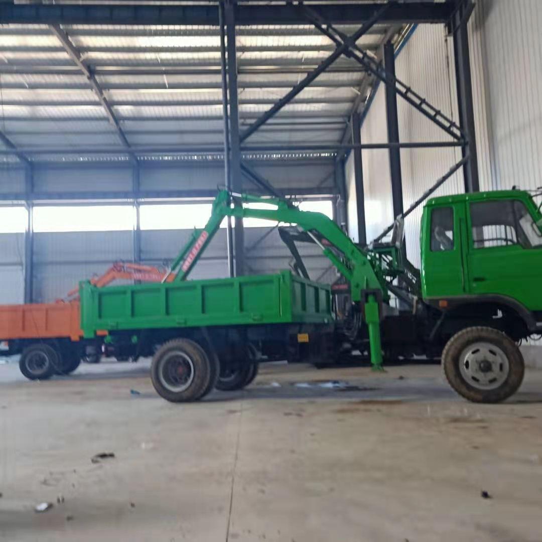 工程运输随车挖 挖掘装载运输一体机 沙土随车挖