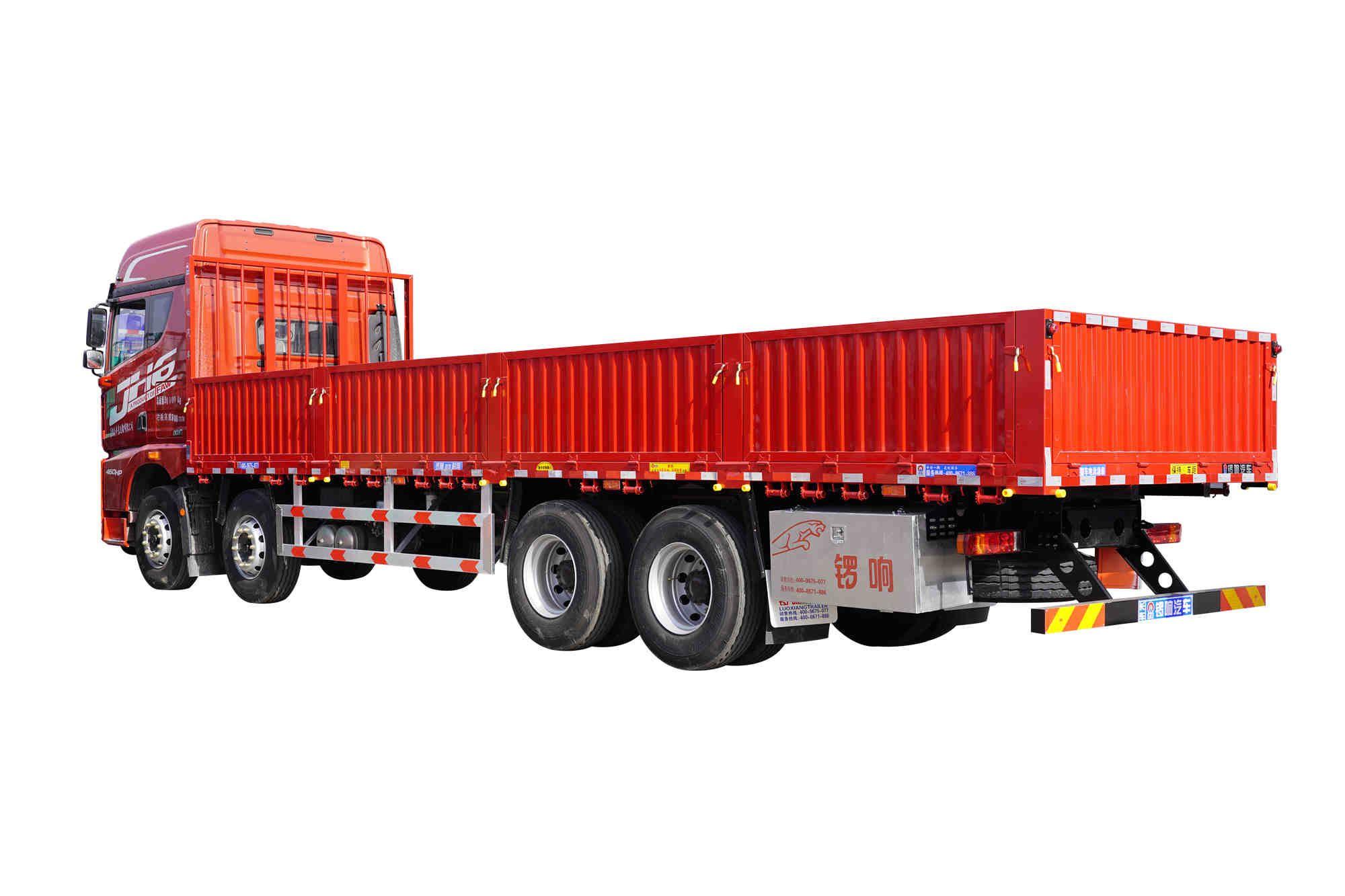 锣响轻型半挂车 栏板式载货车 物流运输车 铝合金轮胎