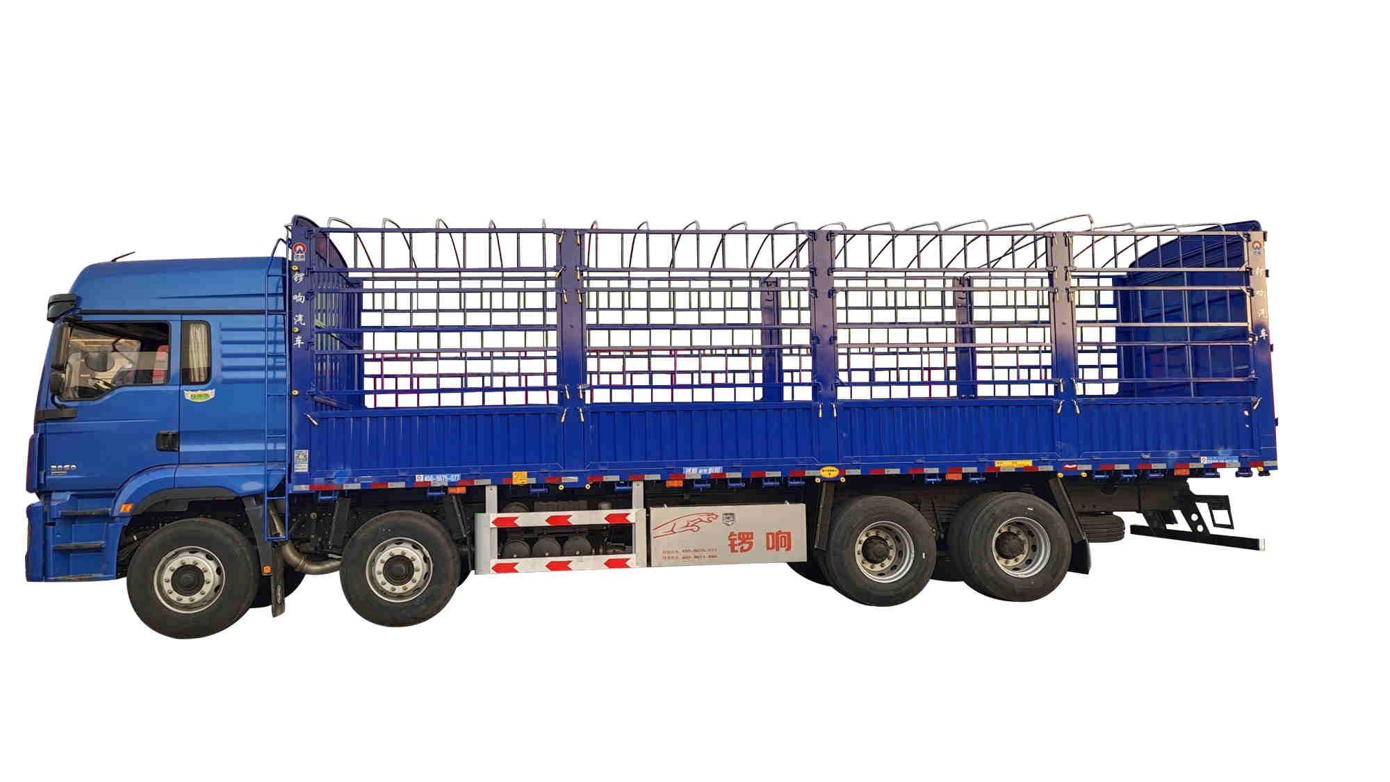 锣响载货车 9米6仓栅式载货车 铝合金工具箱 半挂车生产