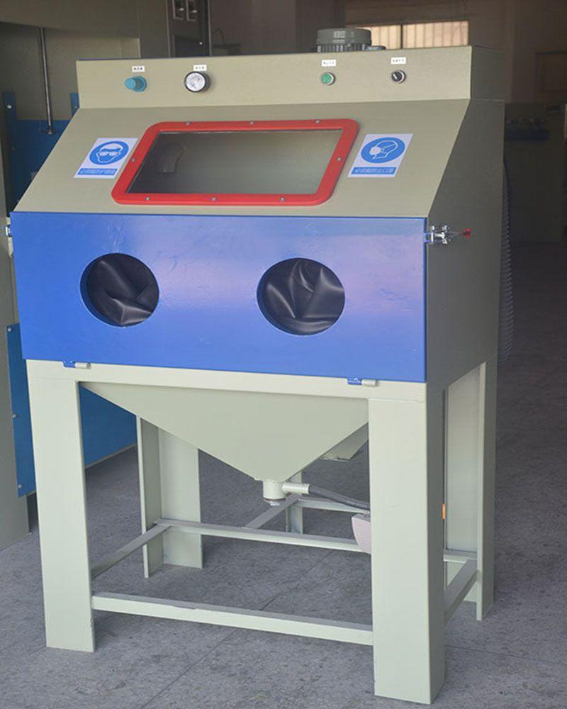 电镀前处理钛合金眼镜框 中卫箱式手动喷砂机