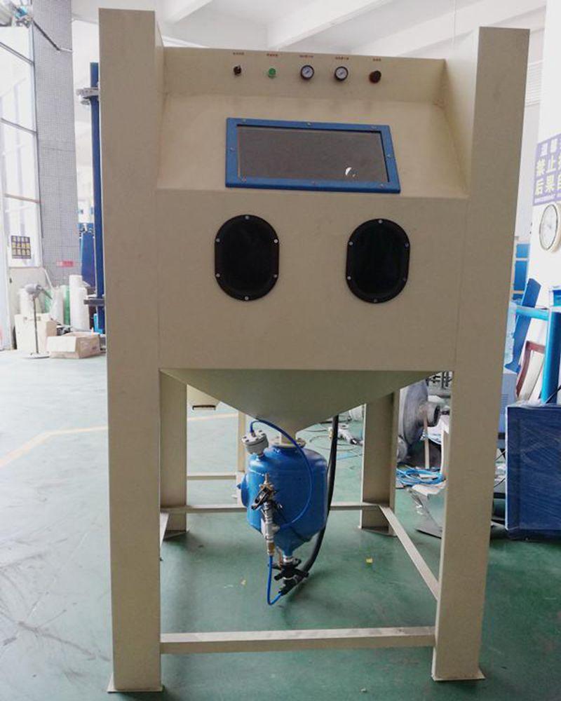 钢材轴套清理氧化层设备 中卫压入式手动喷砂机