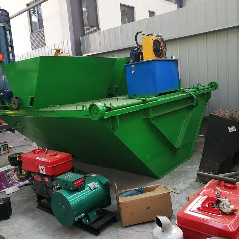现浇式渠道成型机设备 农田水渠滑模机U/T型防渗水渠成型机