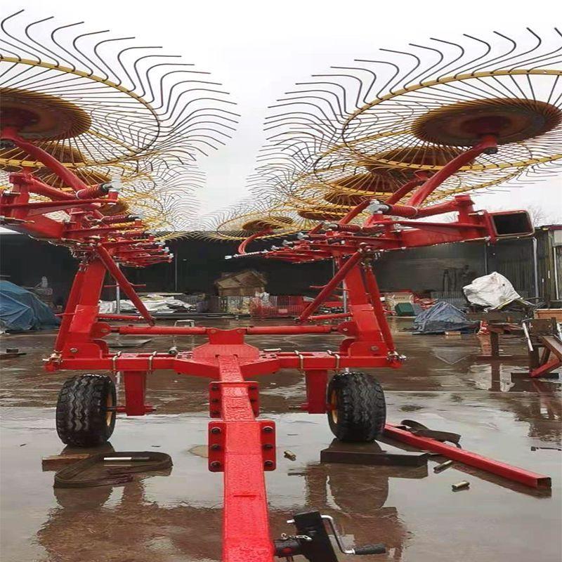 8盘指盘式搂草机 秸秆搂草机 多盘搂草机 玉米秸秆搂草机