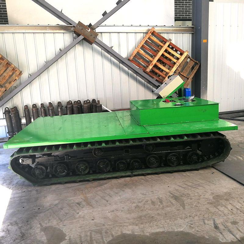 供应挖机钢制履带底盘 载重行走液压履带底盘