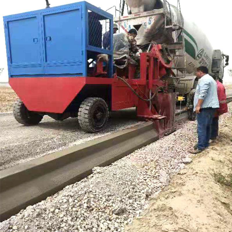 现浇马路牙石成型机 路沿石滑模成型机