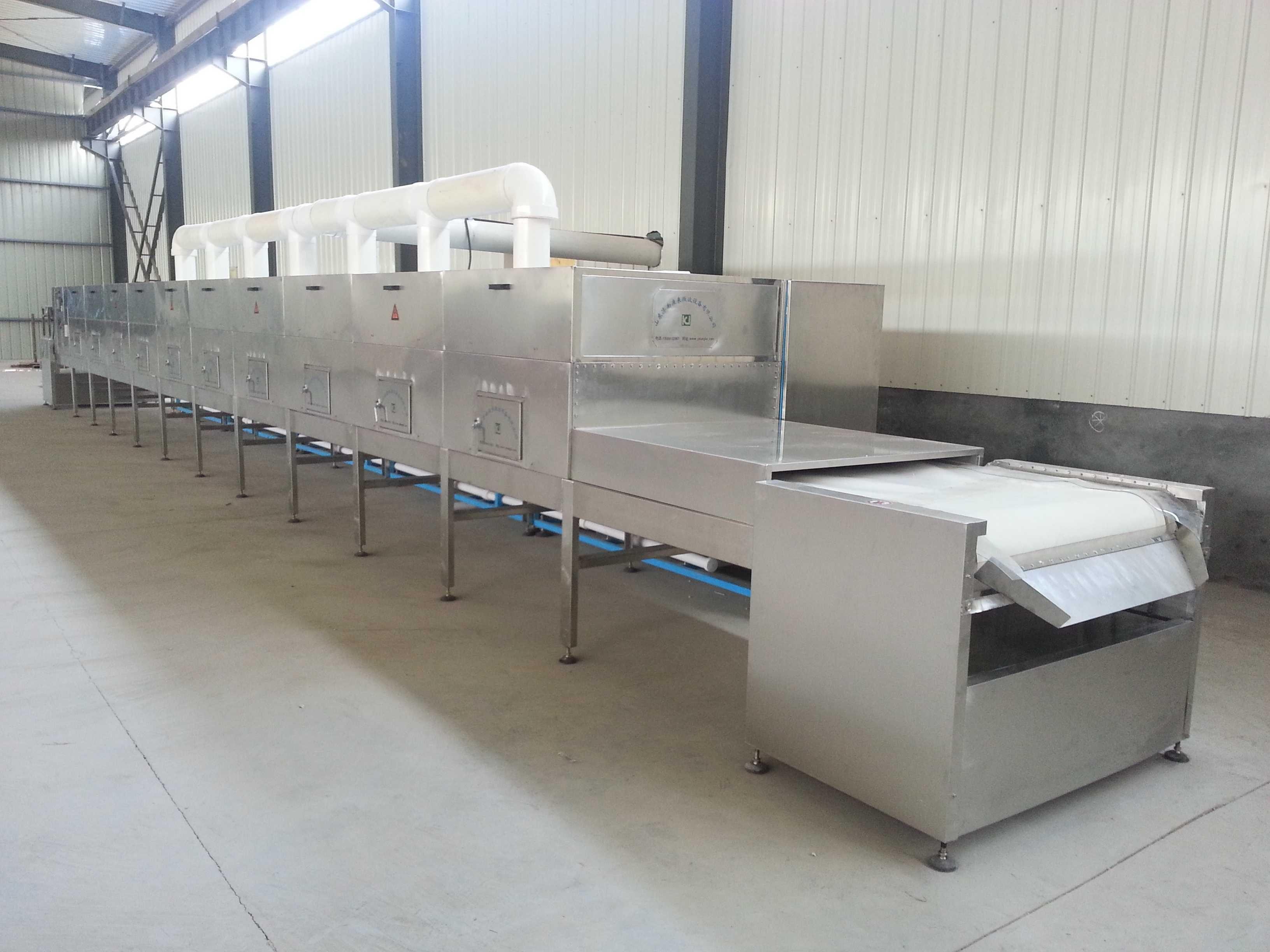 红豆薏米粉低温烘焙设备采用微波设备的优势