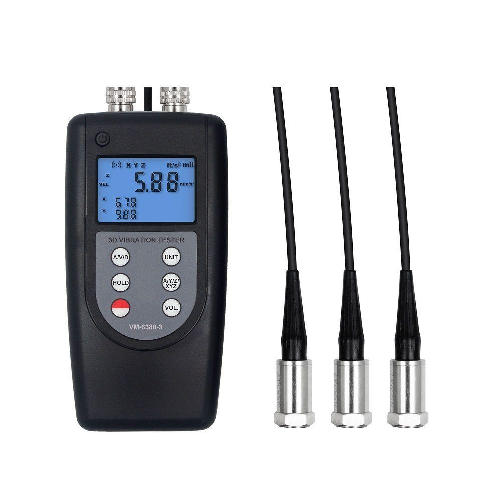 VM-6380-3青島3通道測振儀機械軸承振動分析儀電機振幅測量儀
