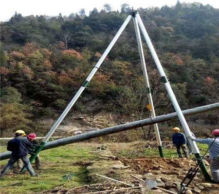 拔杆机 河北铝合金立杆机 电线杆立杆器 电杆起杆器 人字扒杆