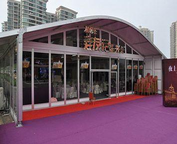 房产预售中心玻璃篷房厂家 设计定做展销大蓬 出售办公篷房