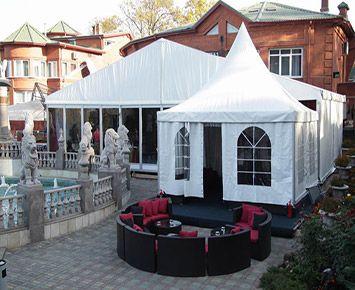 租赁餐饮宴会篷房 设计定做玻璃篷房 出售酒店篷房